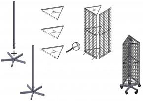 Drahtständer Gitterständer Dreiecksständer Draht