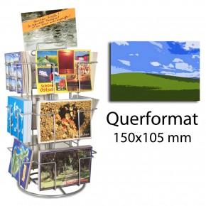Thekenständer Kartenständer 12 Fächer 150x105 mm im Querformat