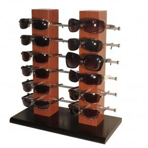 Brillenständer für 12 Brillen aus Holz