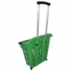 Einkaufstrolley Einkaufskorb m. Rollen ca.38L Grün