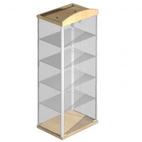 Vitrine für Schmuck abschließbar aus Holz und Glas
