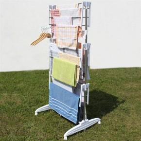Wäscheständer Wäscheturm Wäschespinne mit 3 Ebenen