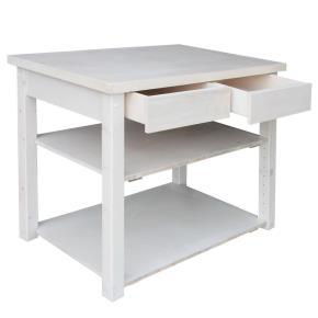 Boutiquetisch aus Massivholz, 3-Schichtplatte