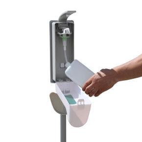 Hygienestation Light 130cm in RAL9006